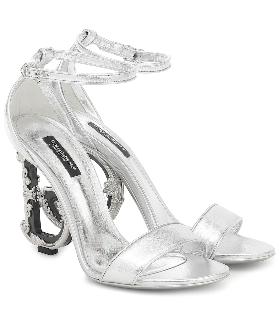 Keira metallic leather sandals
