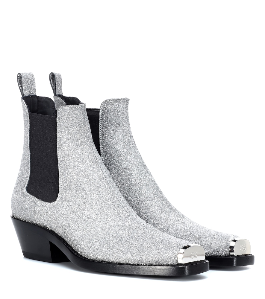 Western Claire Ankle Boots in Grey