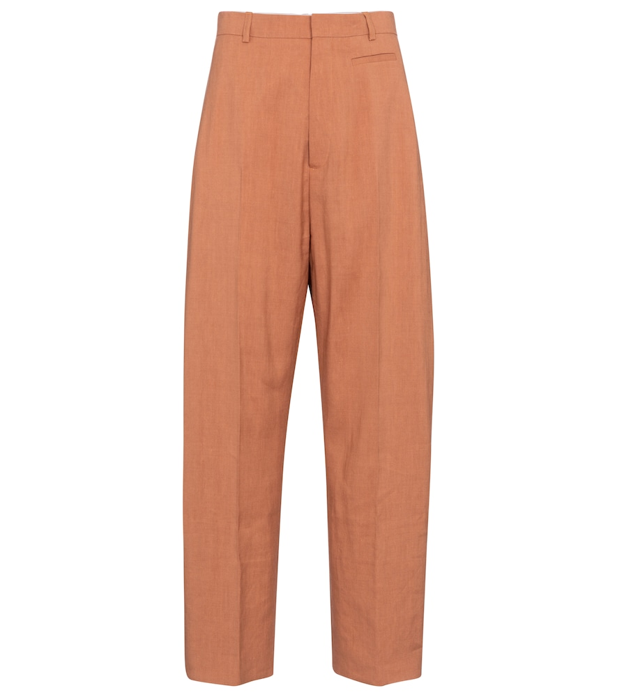 Jacquemus LE PANTALON SAUGE HIGH-RISE WIDE-LEG PANTS