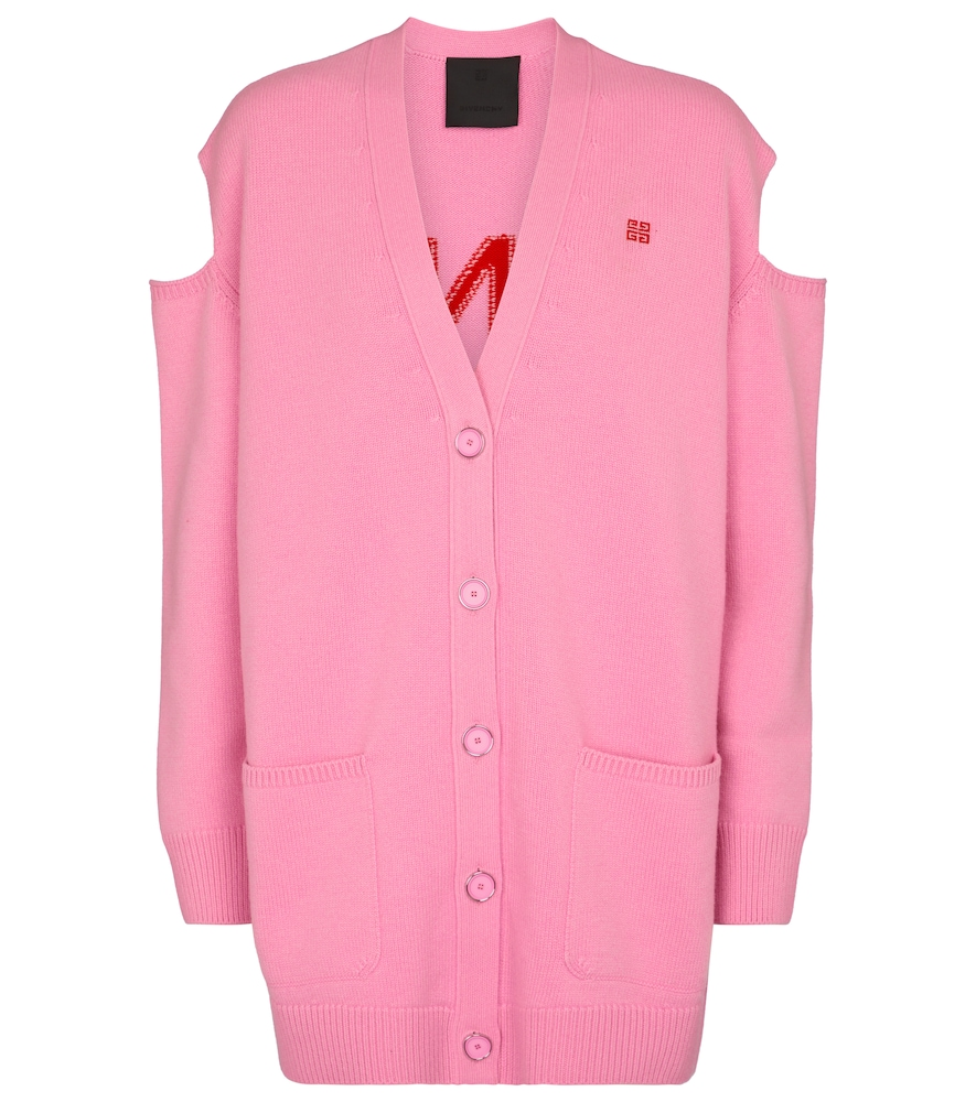 Givenchy Cardigans CUTOUT WOOL AND CASHMERE CARDIGAN