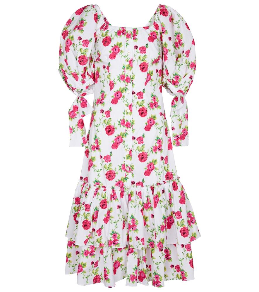 Nella floral cotton-blend midi dress