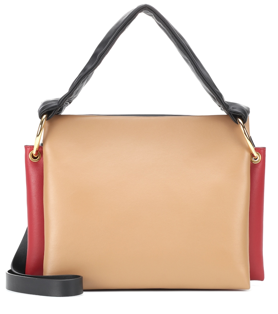 BEAT LEATHER SHOULDER BAG from Mytheresa