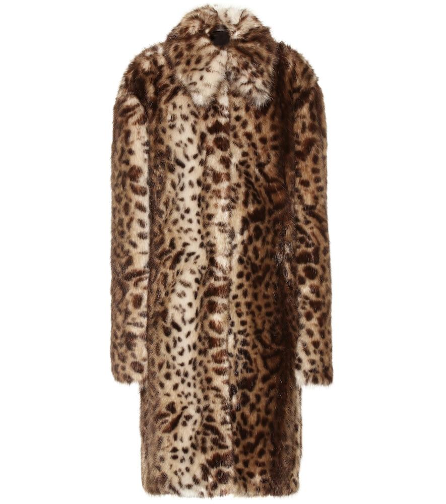 Leopard-print faux fur coat by Rokh