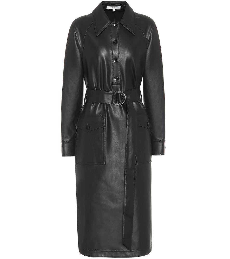 Faux leather midi dress by Tibi
