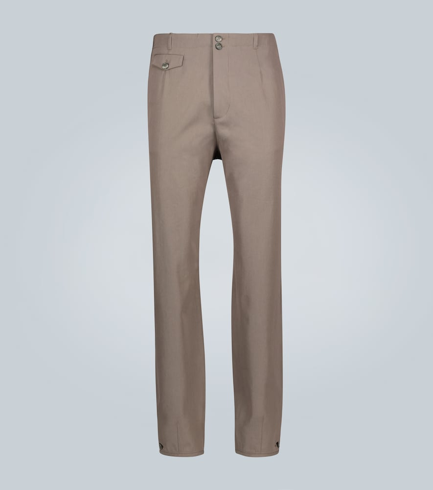 Pantalon fuselé en laine mélangée
