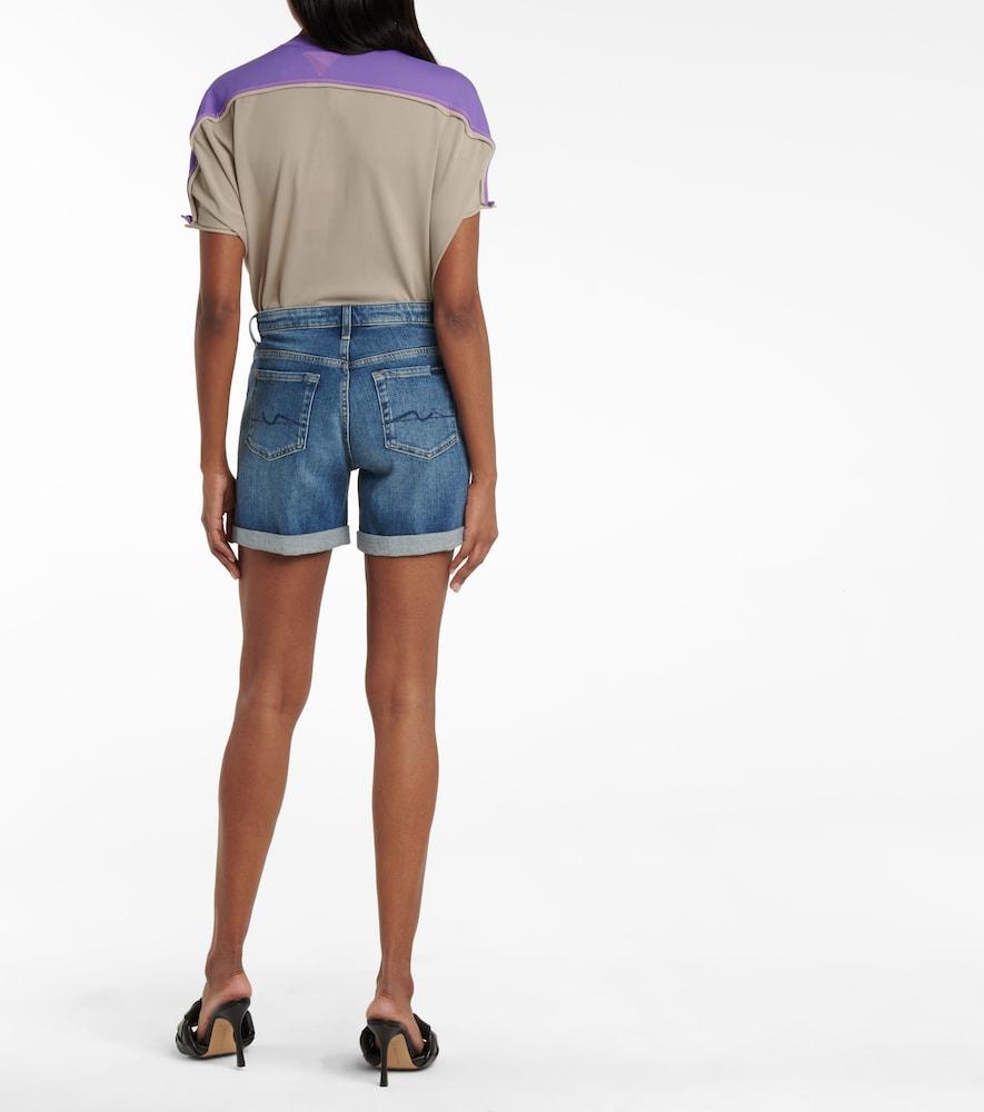 7 FOR ALL MANKIND Shorts BOY MID-RISE DENIM SHORTS