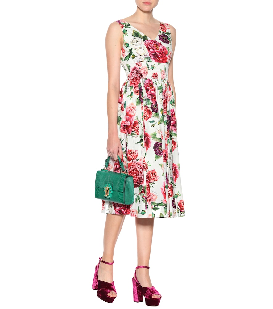 Keira velvet plateau sandals by Dolce & Gabbana