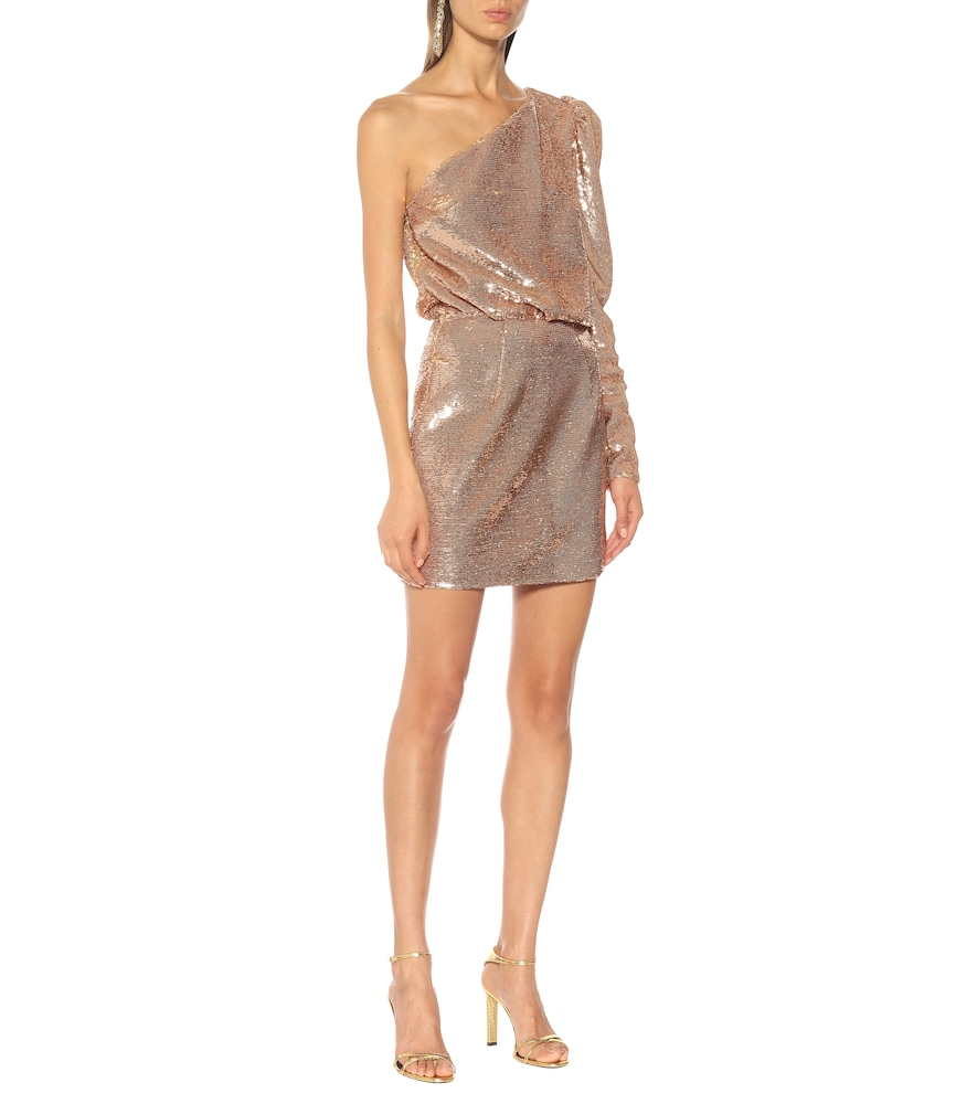 Sequined one-shoulder minidress by Alexandre Vauthier