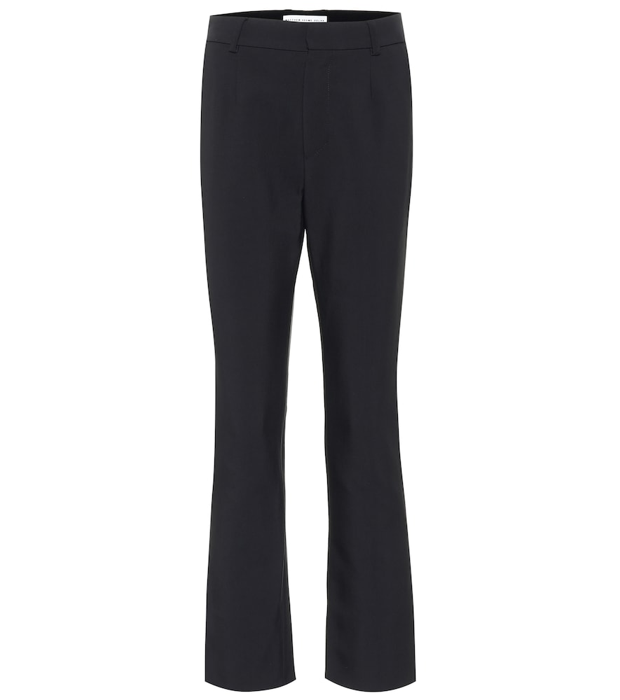 Pantalon à taille haute en crêpe