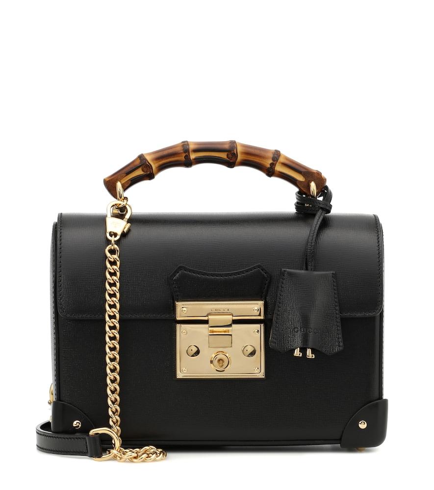 Padlock Small leather shoulder bag
