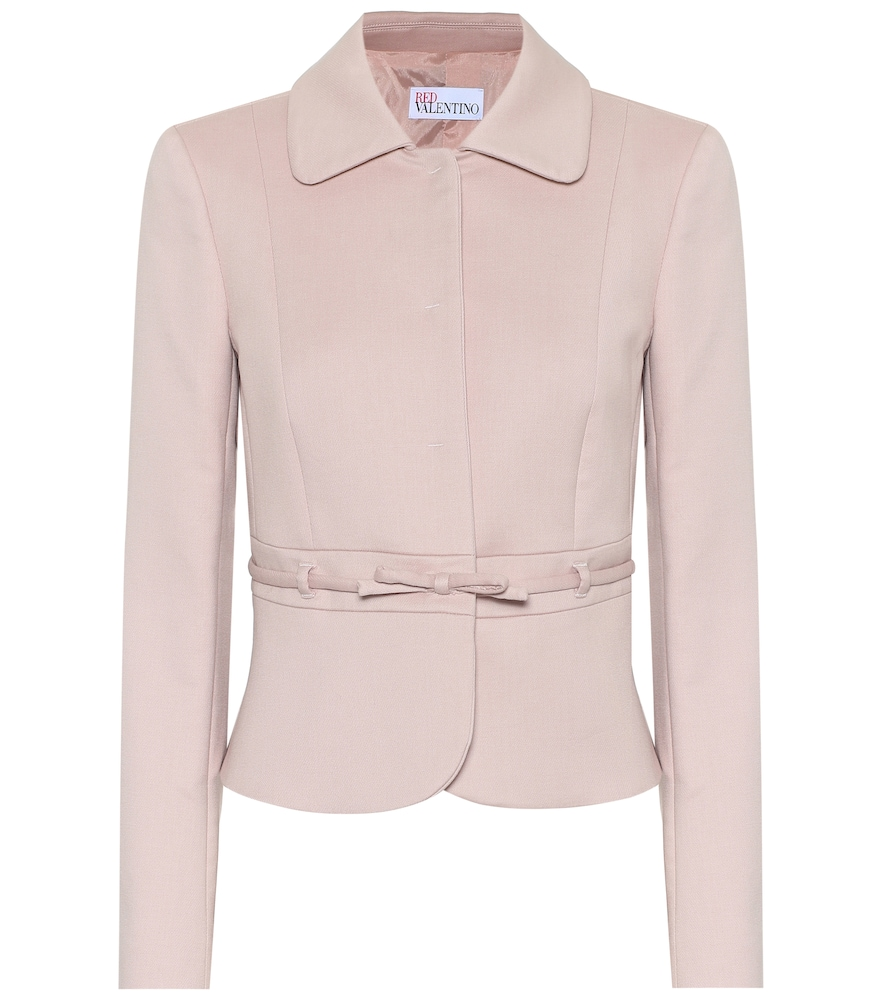 Cotton-blend belted jacket by REDValentino