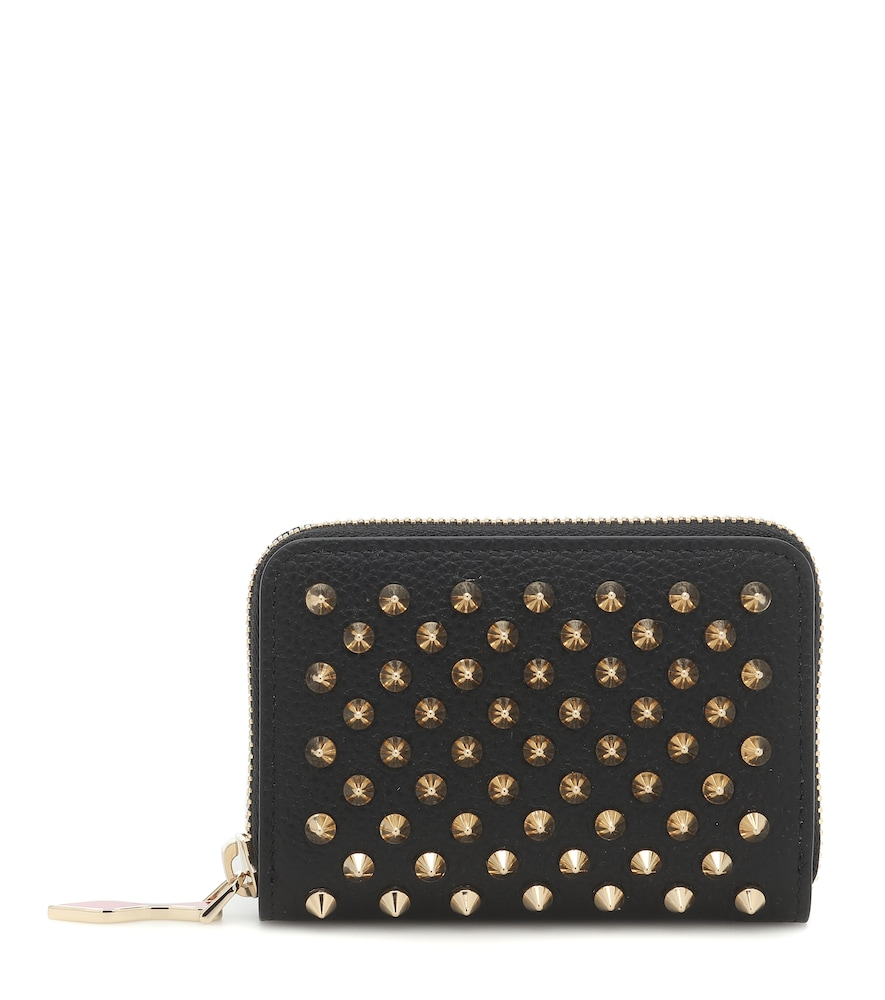 Christian Louboutin PANETTONE STUDDED LEATHER WALLET