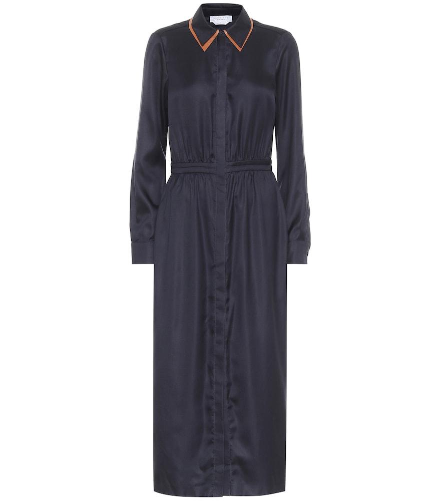 Lowell silk-twill midi dress by Gabriela Hearst