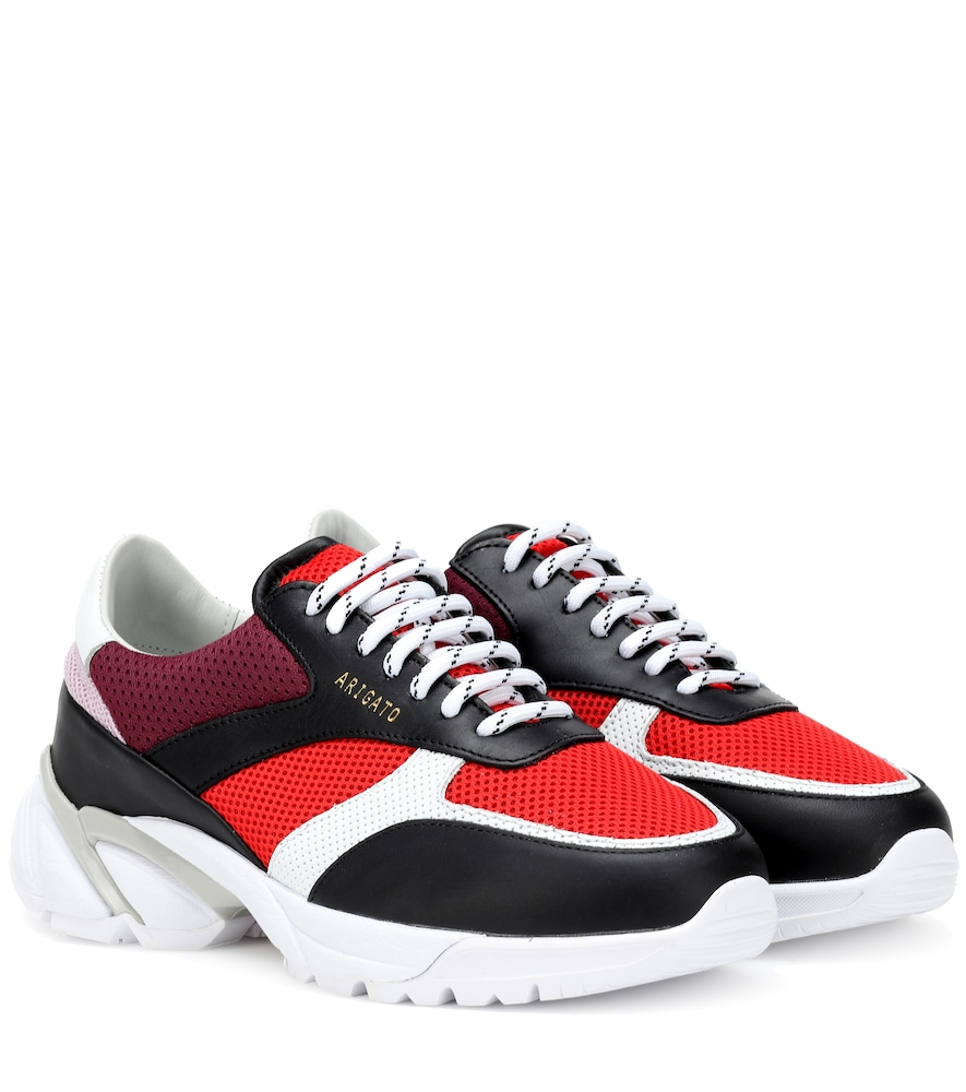 AXEL ARIGATO Tech Runner Leather Sneakers in Multicoloured