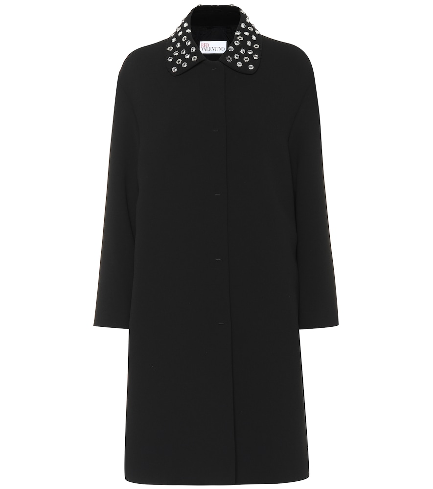 Embellished coat by REDValentino