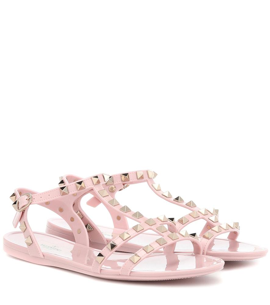 VALENTINO | Valentino Garavani Rockstud PVC sandals | Goxip