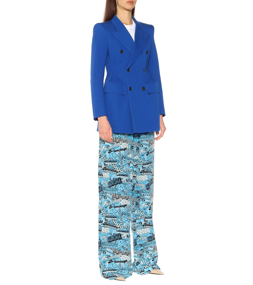 Hourglass stretch-cotton blazer by Balenciaga