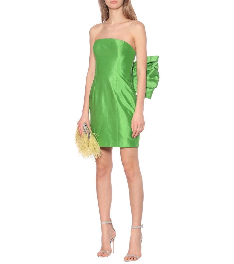 Exclusive to Mytheresa - Silk-satin strapless midi dress by RASARIO
