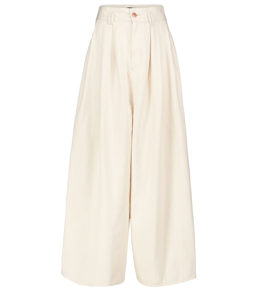 Isabel Marant NAIDENAE WIDE-LEG COTTON PANTS