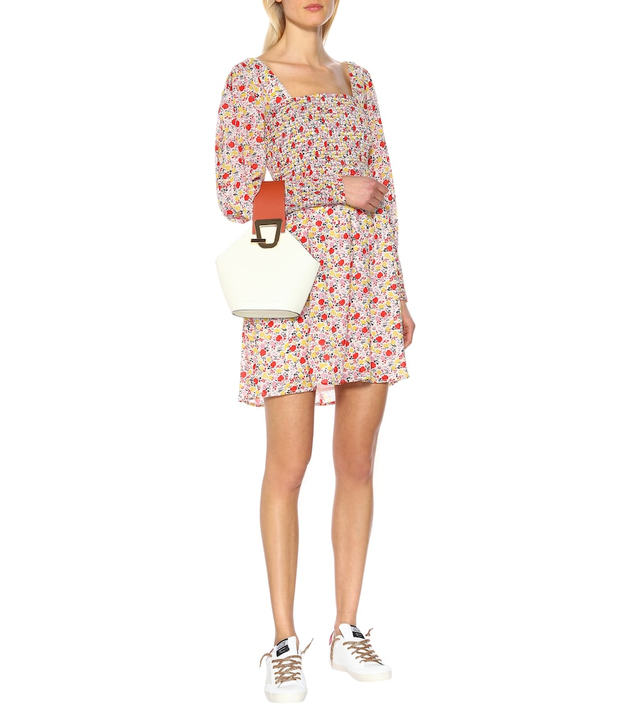 Exclusive to Mytheresa - Floral georgette minidress by Ganni