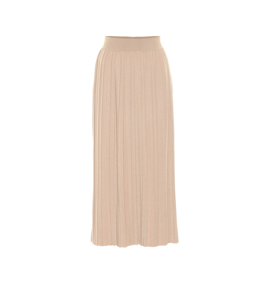 Quercy cashmere and silk midi skirt