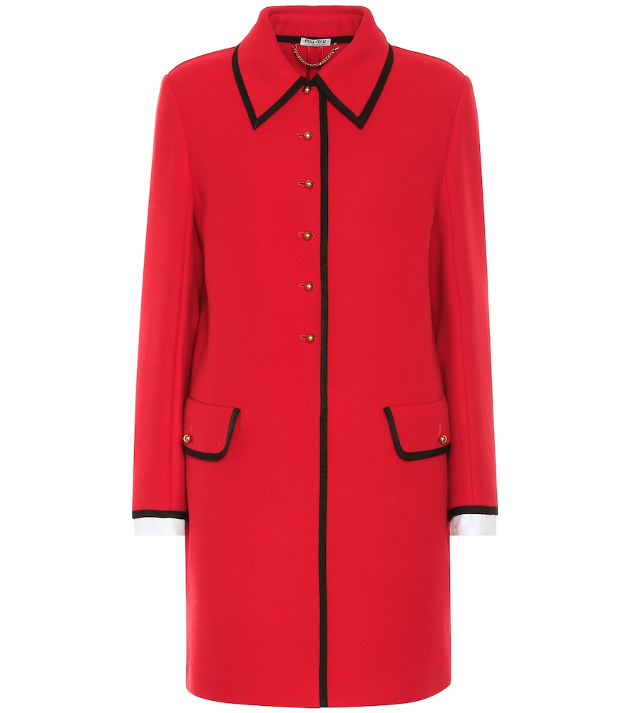 Manteau en laine - Miu Miu - Modalova
