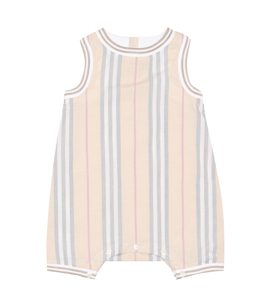 BURBERRY BABY CHET ICON STRIPE PLAYSUIT