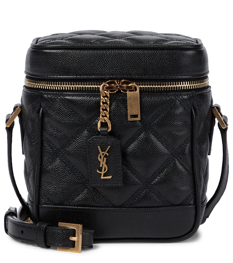 Saint Laurent Quilted Leather Crossbody Bag In Black