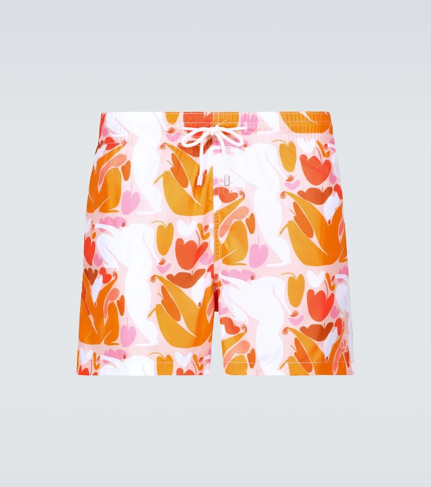 Terracotta Summer Joy x Amber Vittoria swim shorts