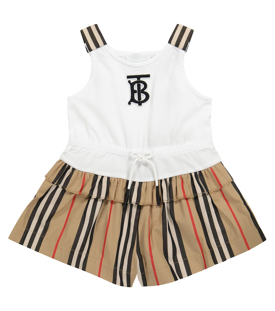 Burberry Baby Icon Stripe cotton playsuit