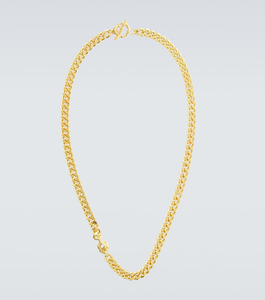 X Rock gold-plated necklace
