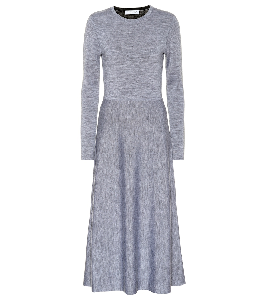 AVILA WOOL-BLEND MIDI DRESS
