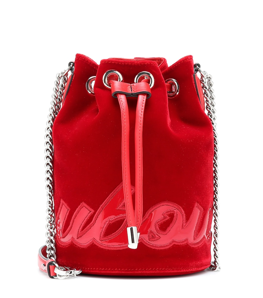 Christian Louboutin Bags MARIE JANE VELVET BUCKET BAG