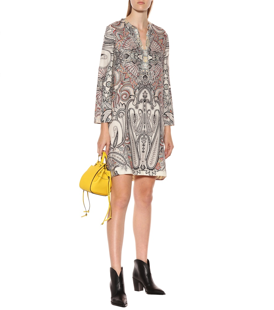 Printed wool and silk minidress by Etro
