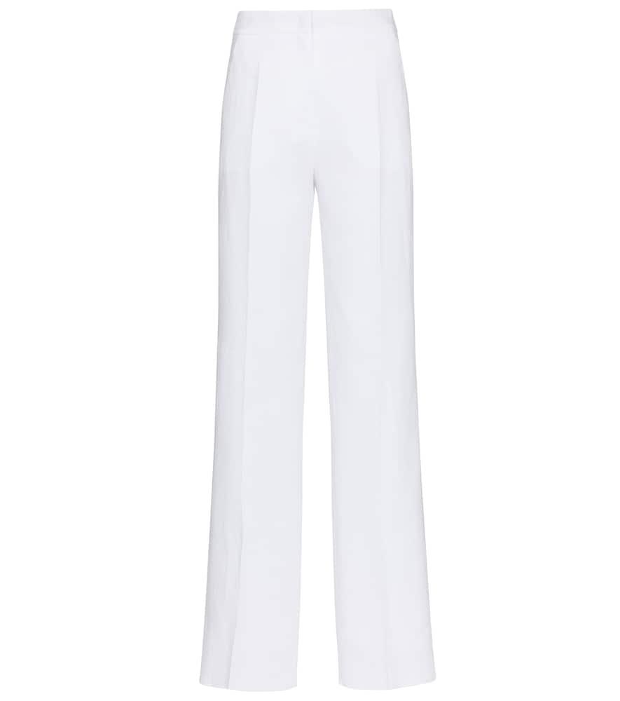 Max Mara Straight pants UVA HIGH-RISE STRAIGHT LINEN PANTS