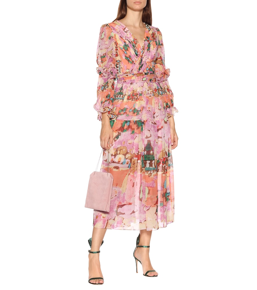 Floral georgette midi dress by Peter Pilotto