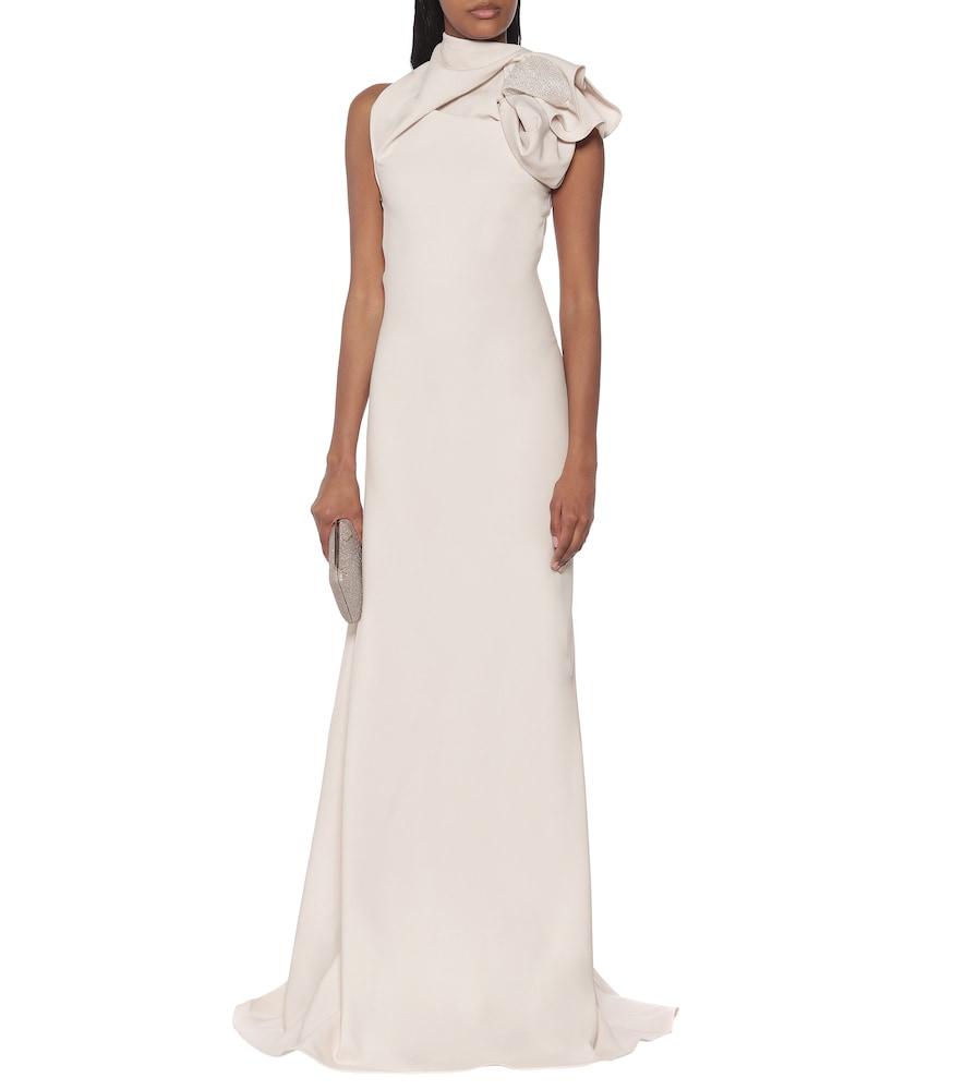 Photo of Captivate stretch-cr?e gown by Maticevski - shop Maticevski Dresses, Midi & Long Dresses online