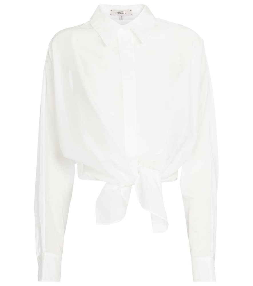 Dorothee Schumacher TRANSPARENT FANTASY COTTON-VOILE BLOUSE