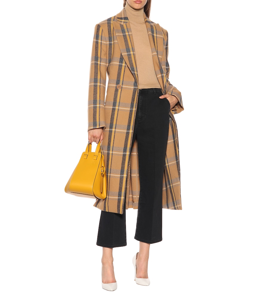 Checked wool coat by Stella McCartney