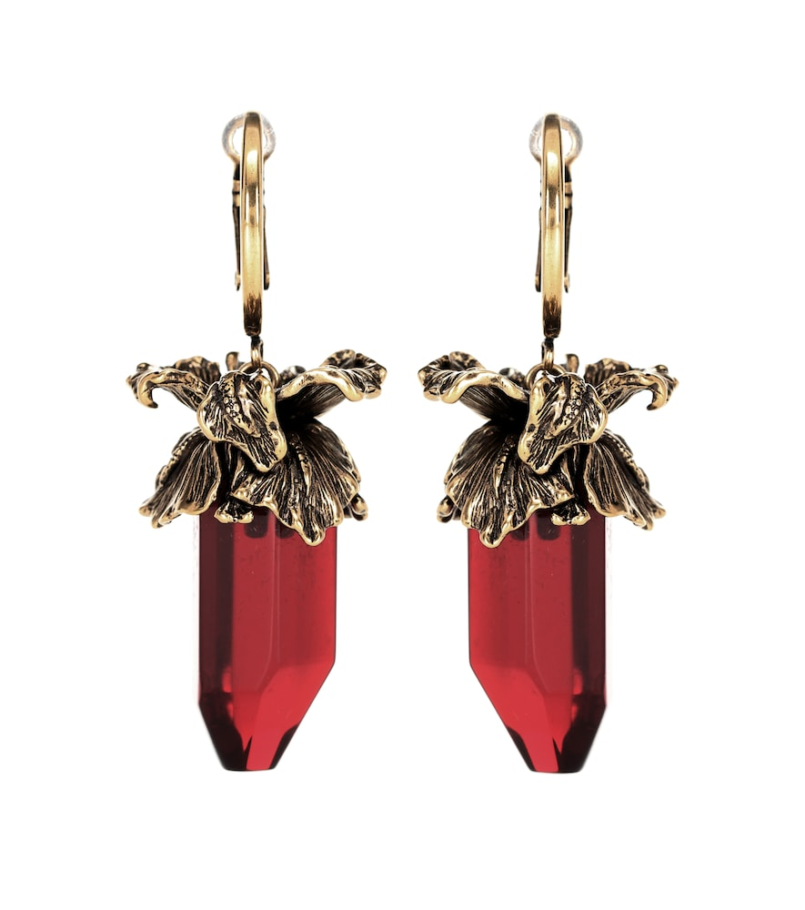 ALEXANDER MCQUEEN Iris Pendant Earrings, Female