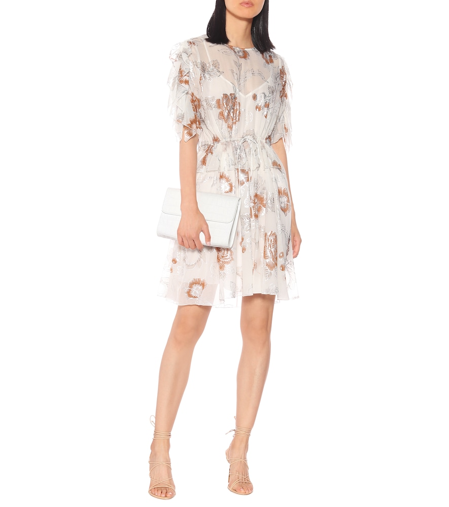 Metallic floral minidress by See By Chloé