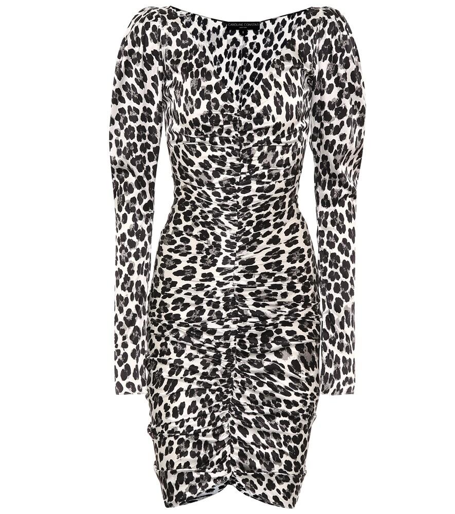 Caroline Constas Dresses COLETTE LEOPARD STRETCH-SILK DRESS