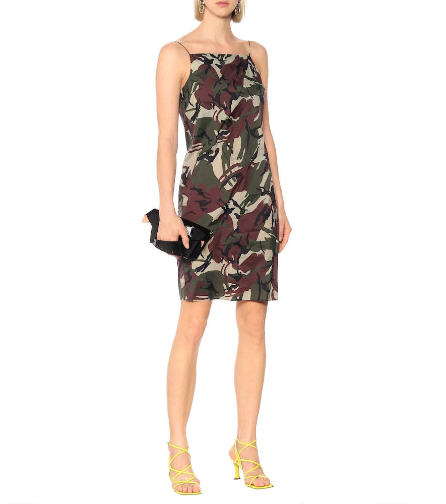 Photo of Camouflage slip dress by Kwaidan Editions - shop Kwaidan Editions Dresses, Knee-Length online