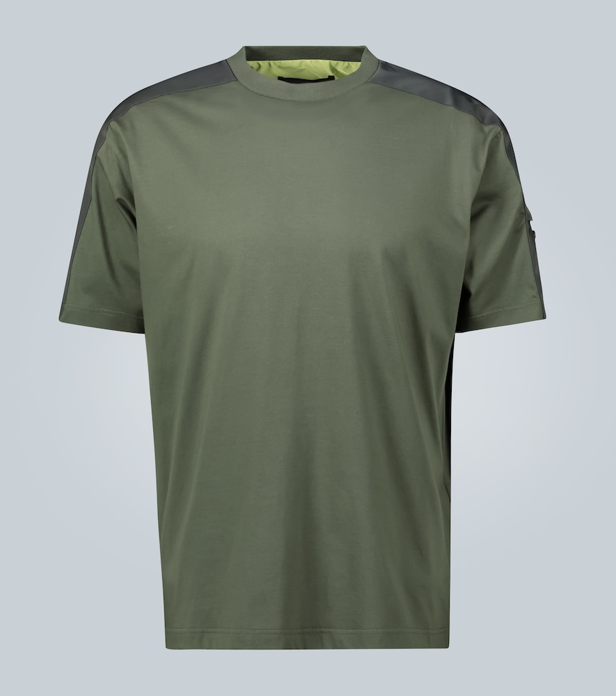 T-shirt en coton contrastant - Prada - Modalova