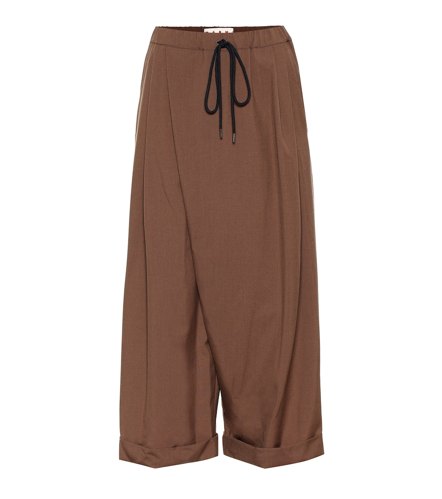 Marni Wools HIGH-RISE VIRGIN WOOL CULOTTES