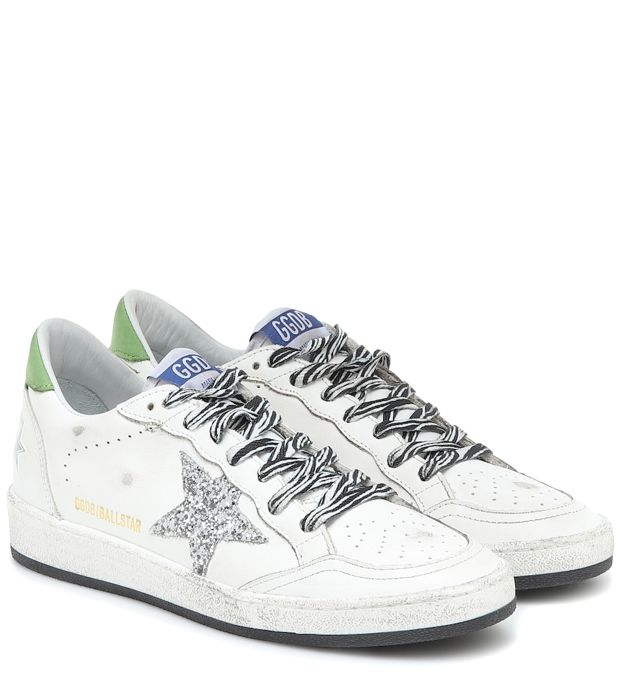 Ball Star glitter leather sneakers