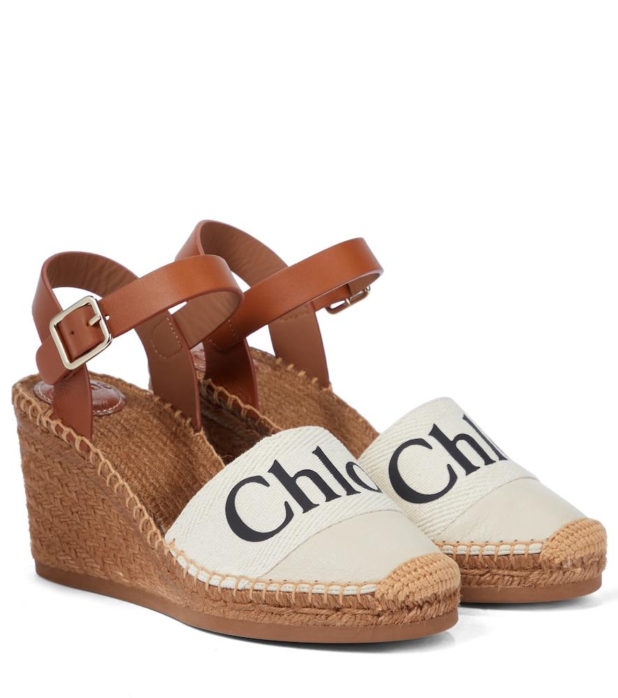 Woody canvas espadrille wedges