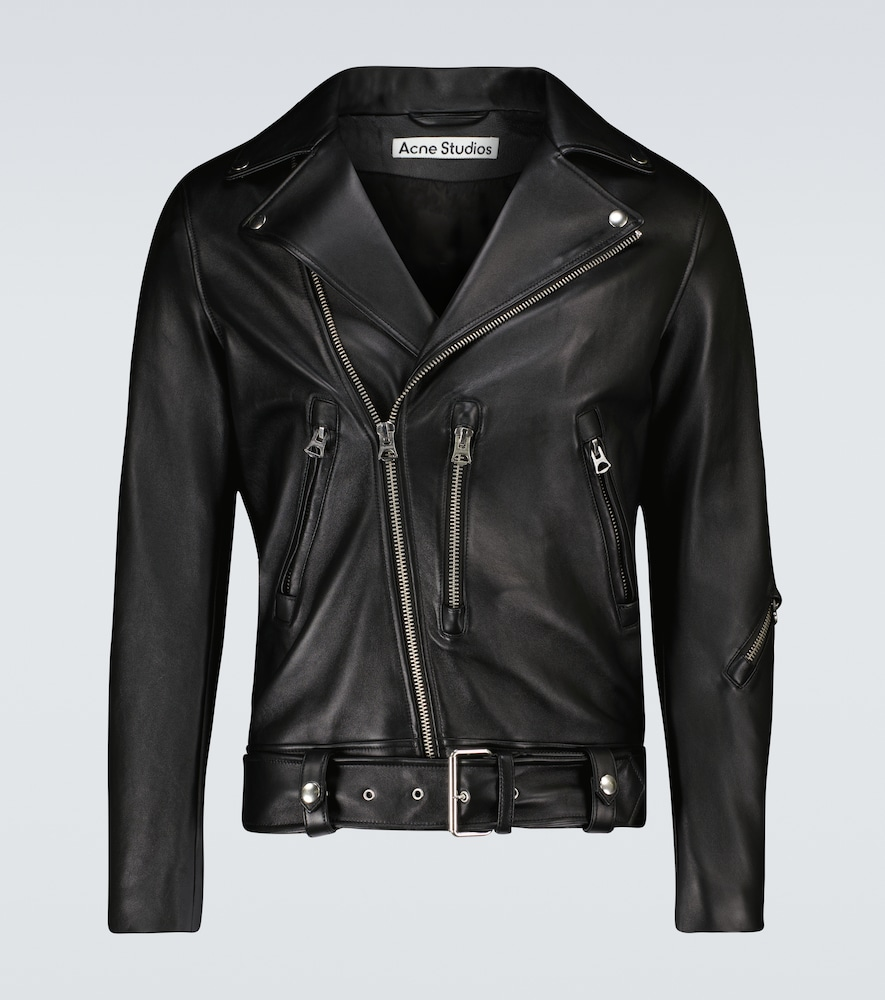 Acne Studios Biker Jacket In Black Leather
