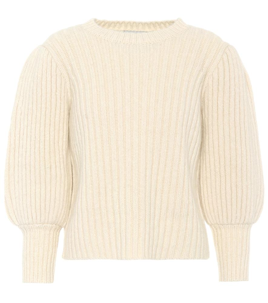 Pull en alpaga, coton et laine mélangés