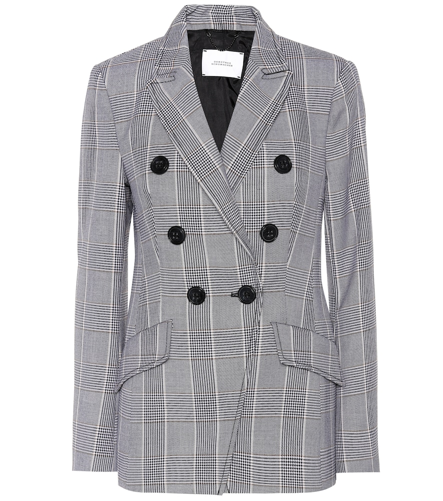 SOPHISTICATED PUNK CHECKED BLAZER